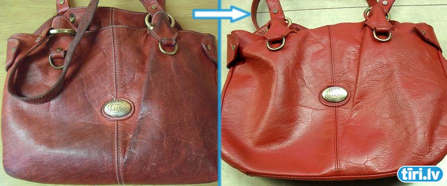 Очистить сумку от краски
